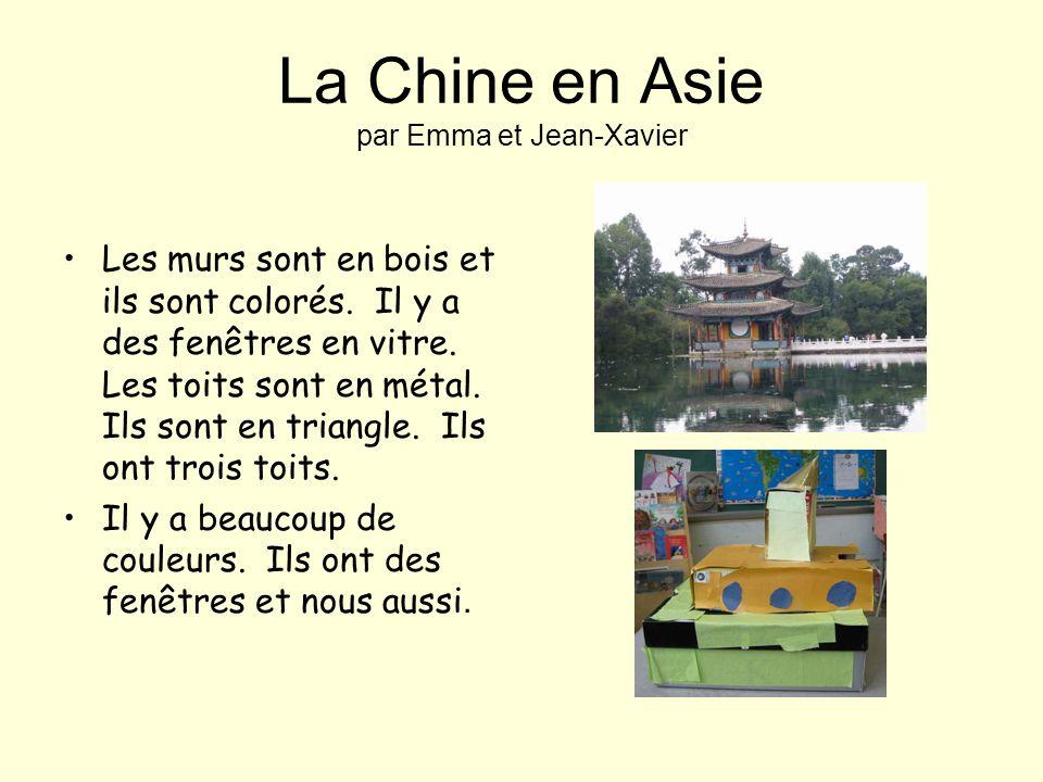 La Chine en Asie par Emma et Jean-Xavier