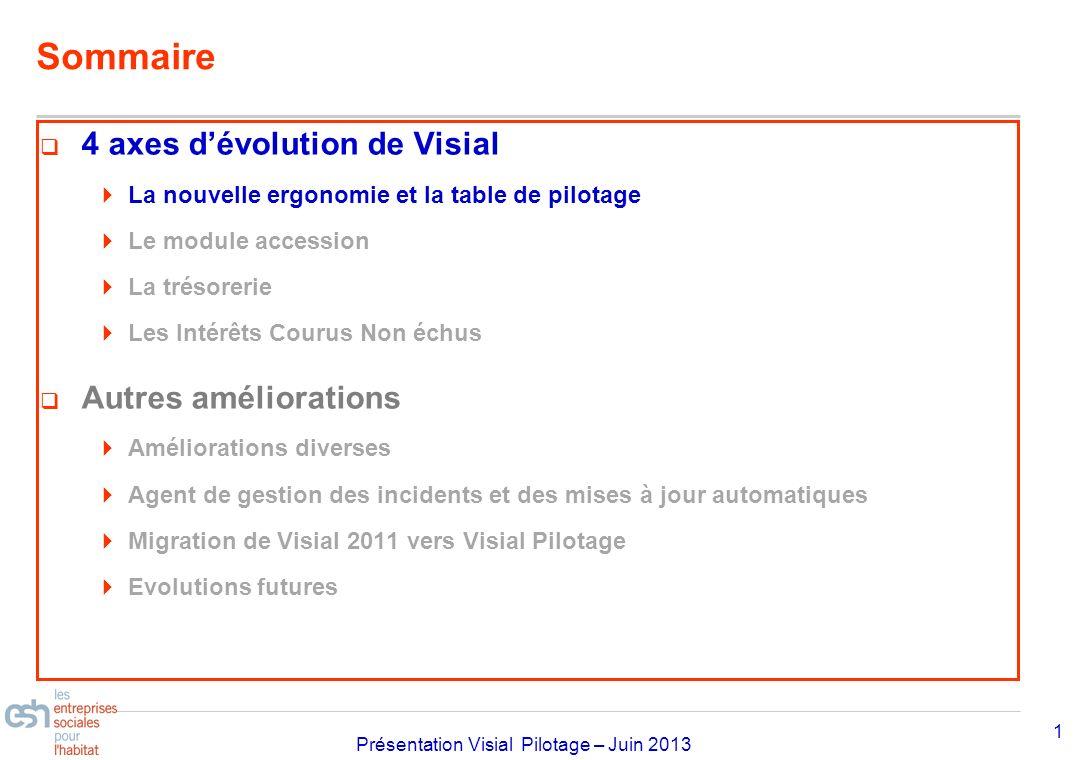 Sommaire 4 axes d'évolution de Visial Autres améliorations