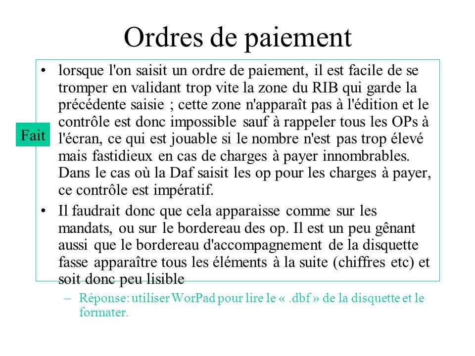 Ordres de paiement