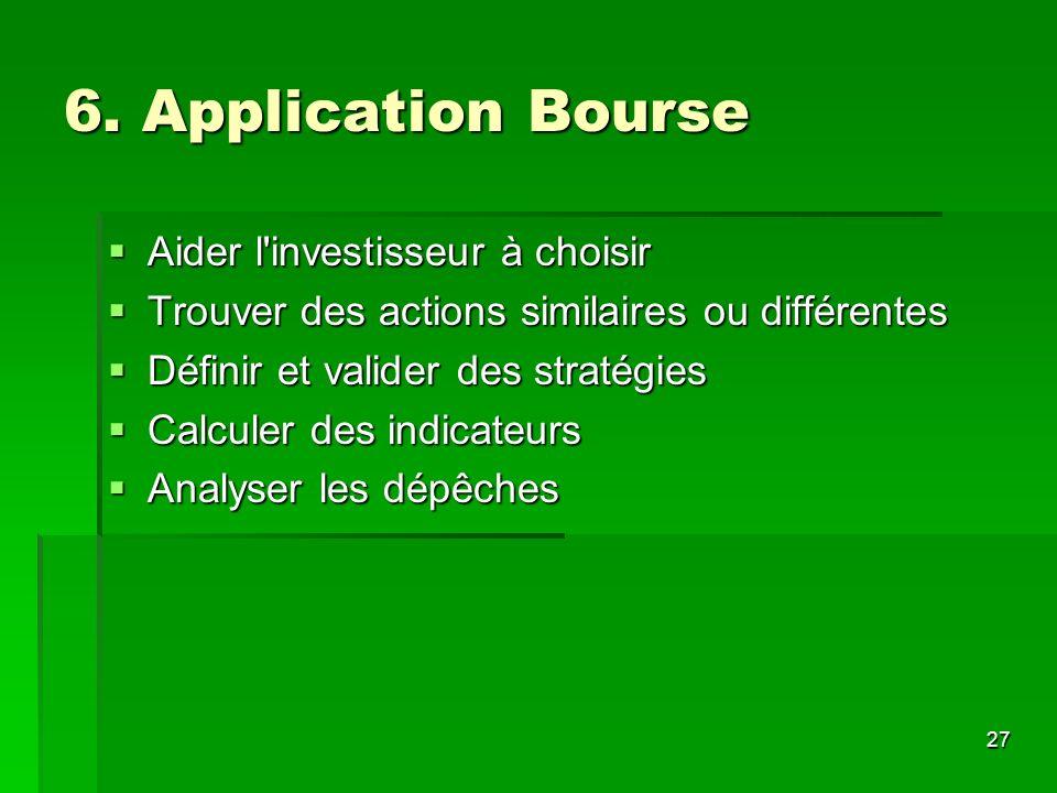 6. Application Bourse Aider l investisseur à choisir