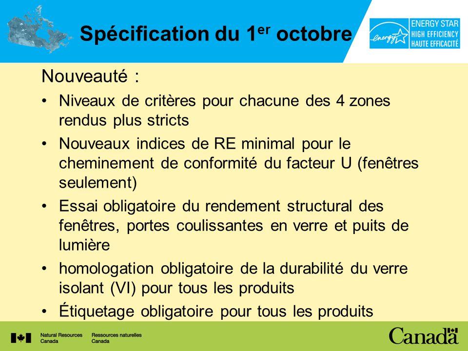 Spécification du 1er octobre