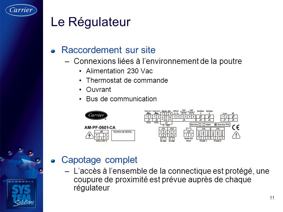 Le Régulateur Raccordement sur site Capotage complet