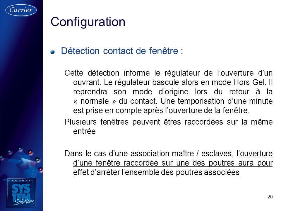 Configuration Détection contact de fenêtre :