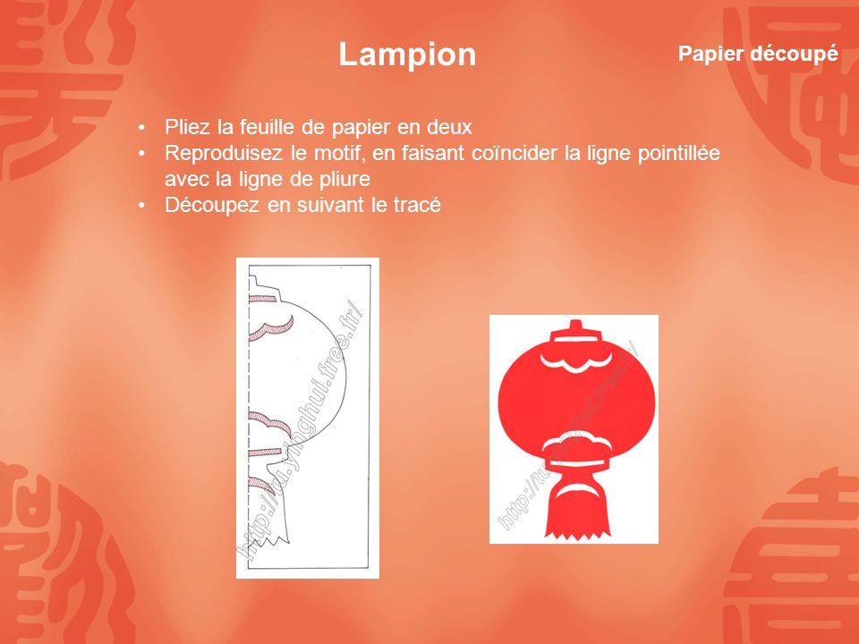 Lampion Papier découpé Pliez la feuille de papier en deux