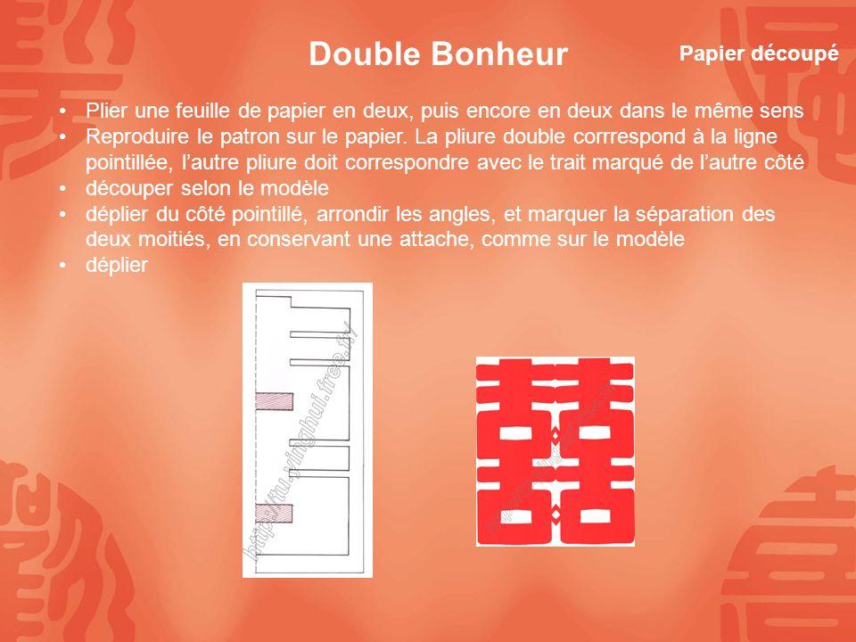 Double Bonheur Papier découpé