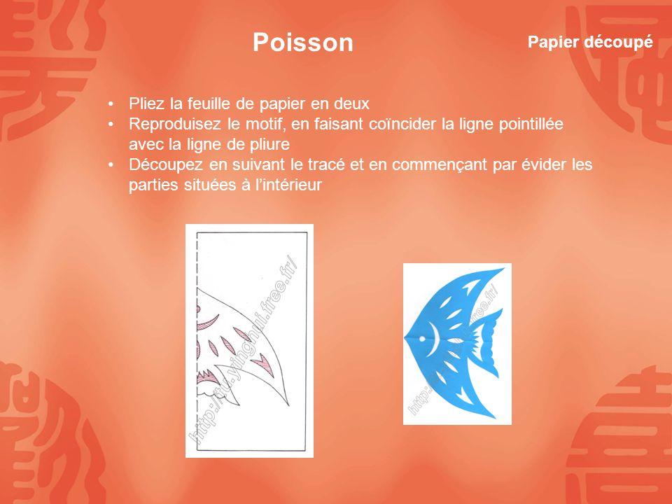 Poisson Papier découpé Pliez la feuille de papier en deux