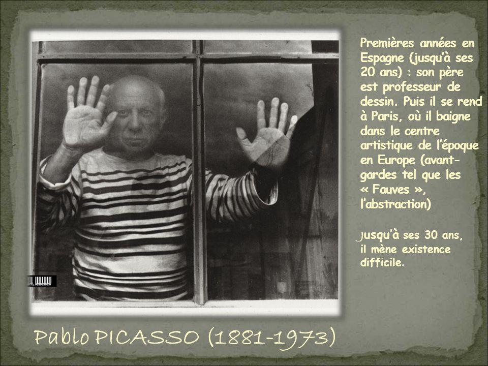 Premières années en Espagne (jusqu'à ses 20 ans) : son père est professeur de dessin. Puis il se rend à Paris, où il baigne dans le centre artistique de l'époque en Europe (avant-gardes tel que les « Fauves », l'abstraction)