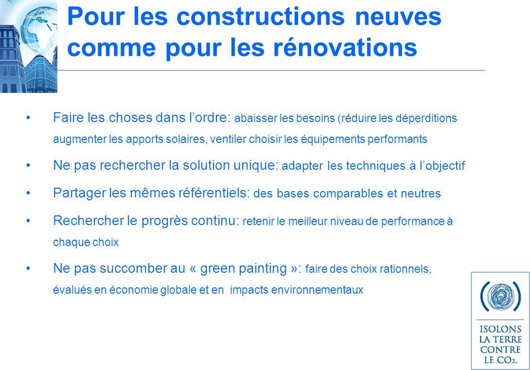 Pour les constructions neuves comme pour les rénovations