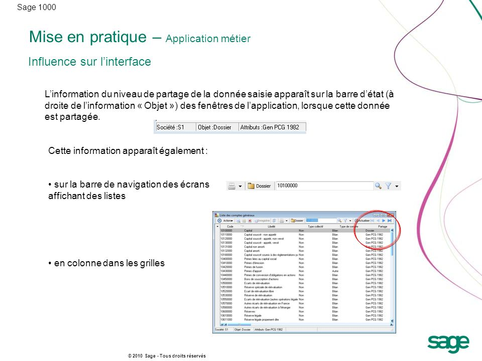 Mise en pratique – Application métier