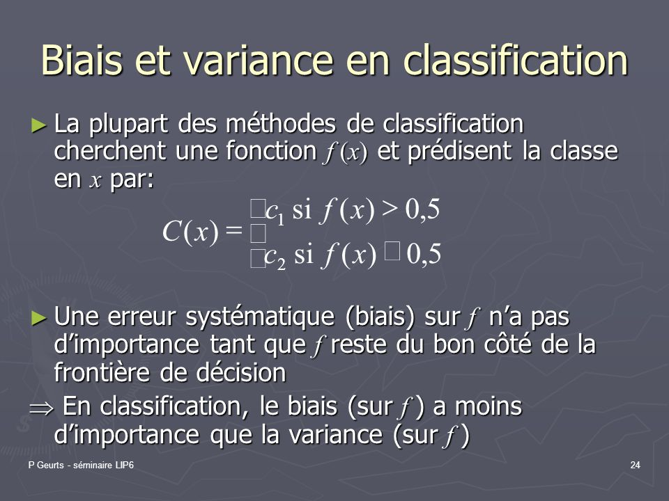 Biais et variance en classification