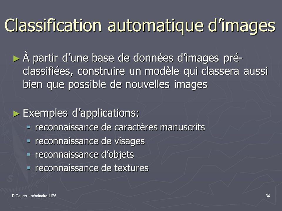 Classification automatique d'images