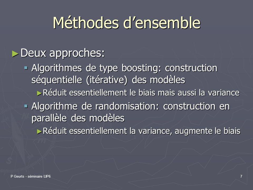 Méthodes d'ensemble Deux approches: