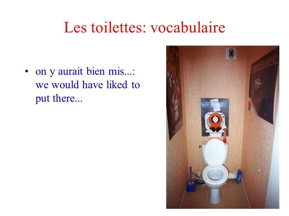 Les toilettes: vocabulaire