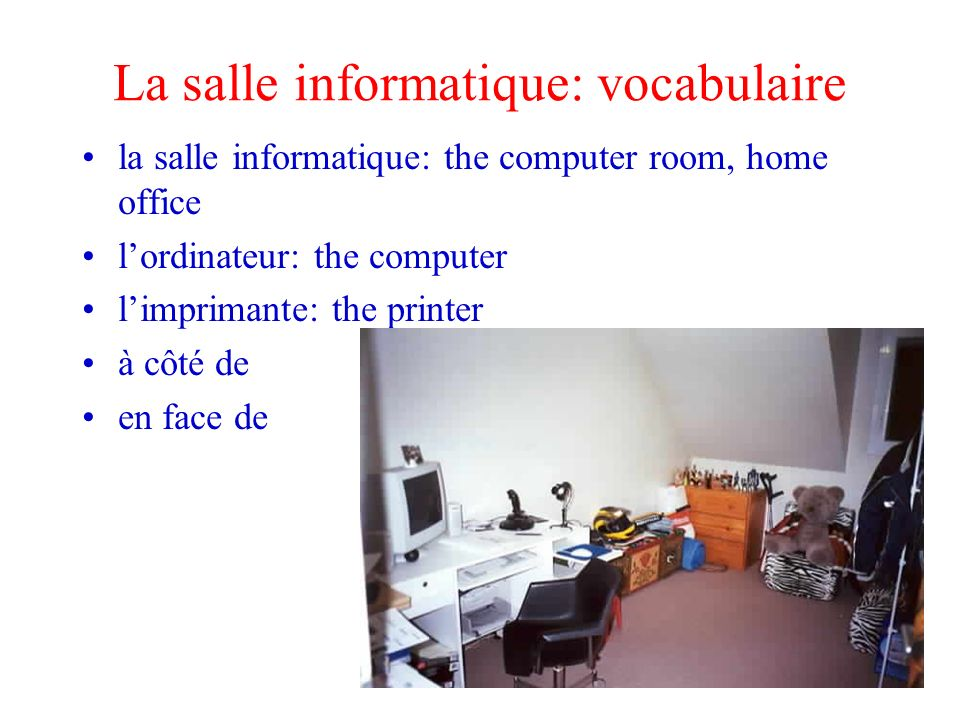 Description de mon appartement ppt video online t l charger for Chambre a coucher vocabulaire
