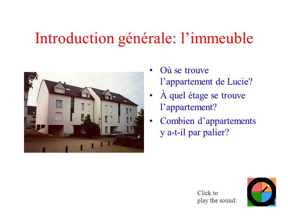 Introduction générale: l'immeuble