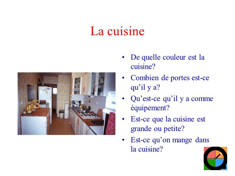 La cuisine De quelle couleur est la cuisine