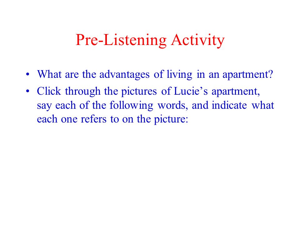 Pre-Listening Activity