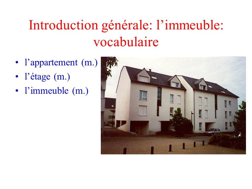 Introduction générale: l'immeuble: vocabulaire