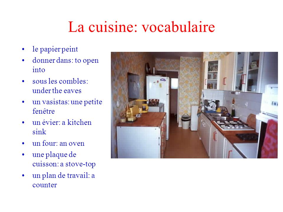 La cuisine: vocabulaire
