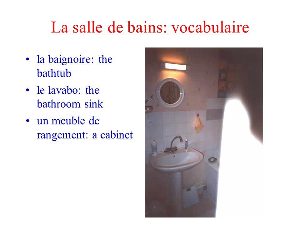 La salle de bains: vocabulaire