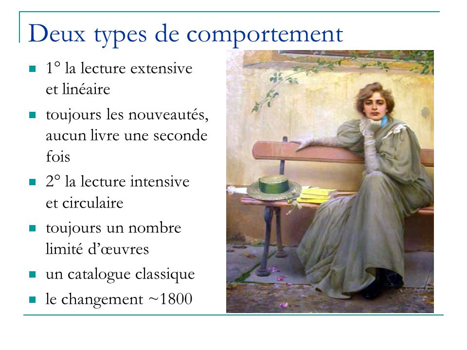 Deux types de comportement