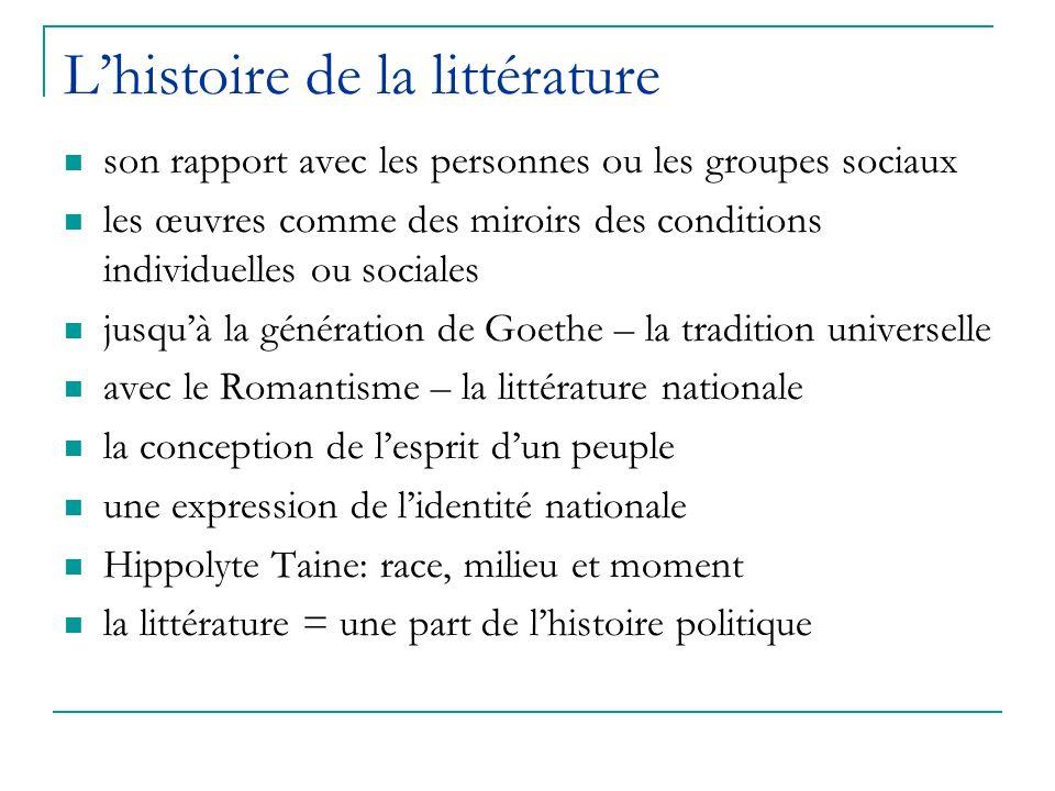 L'histoire de la littérature