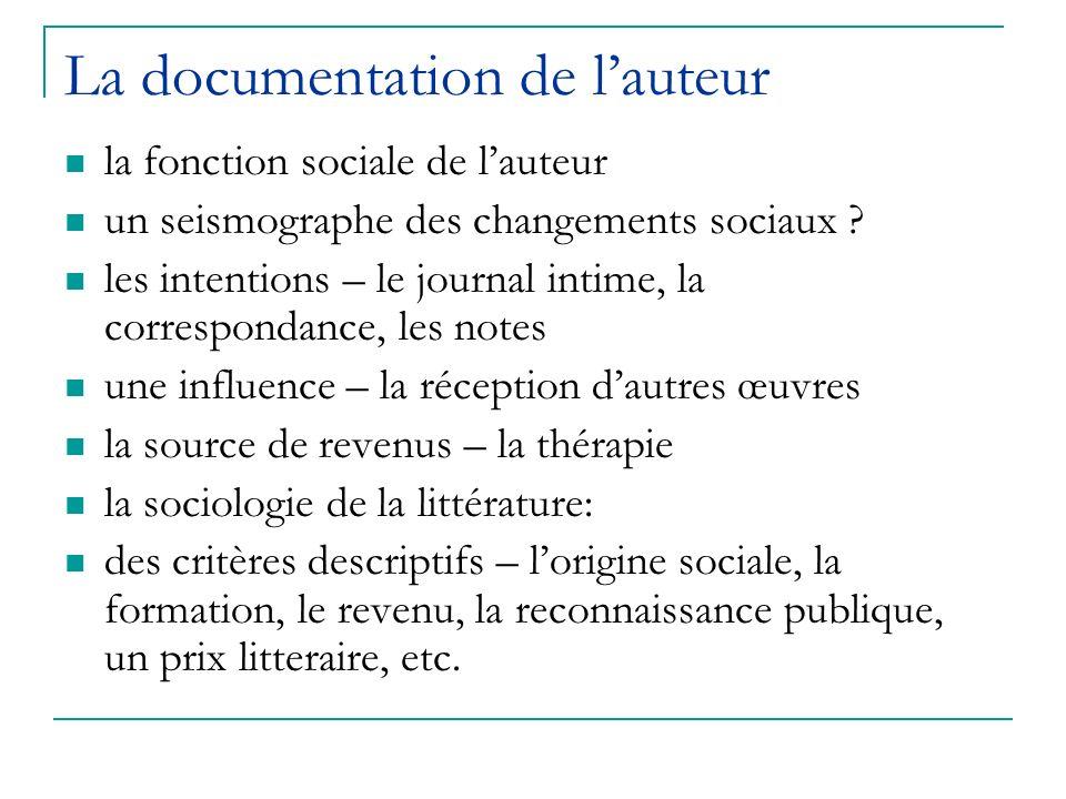 La documentation de l'auteur