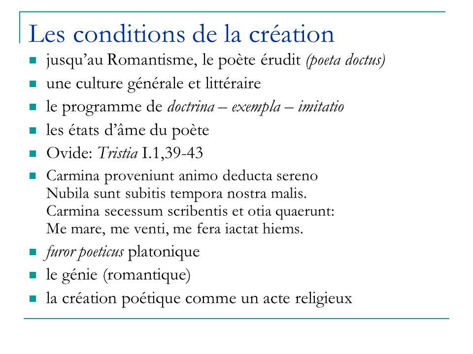 Les conditions de la création