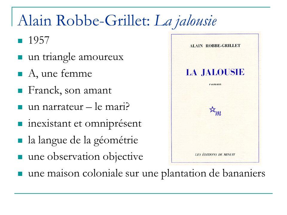Alain Robbe-Grillet: La jalousie