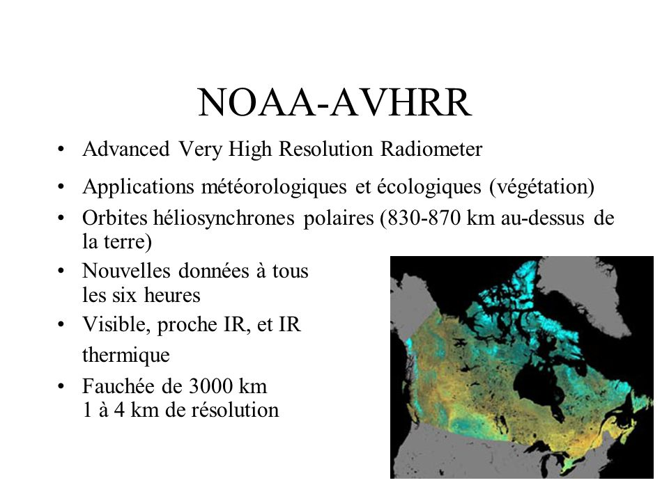 NOAA-AVHRR Advanced Very High Resolution Radiometer