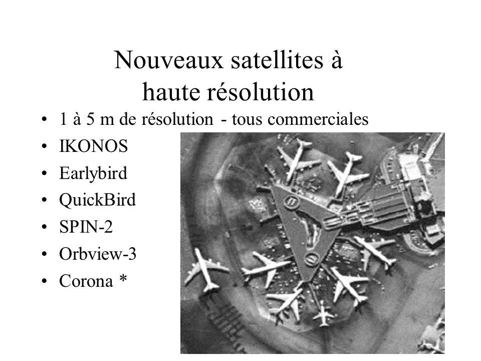 Nouveaux satellites à haute résolution