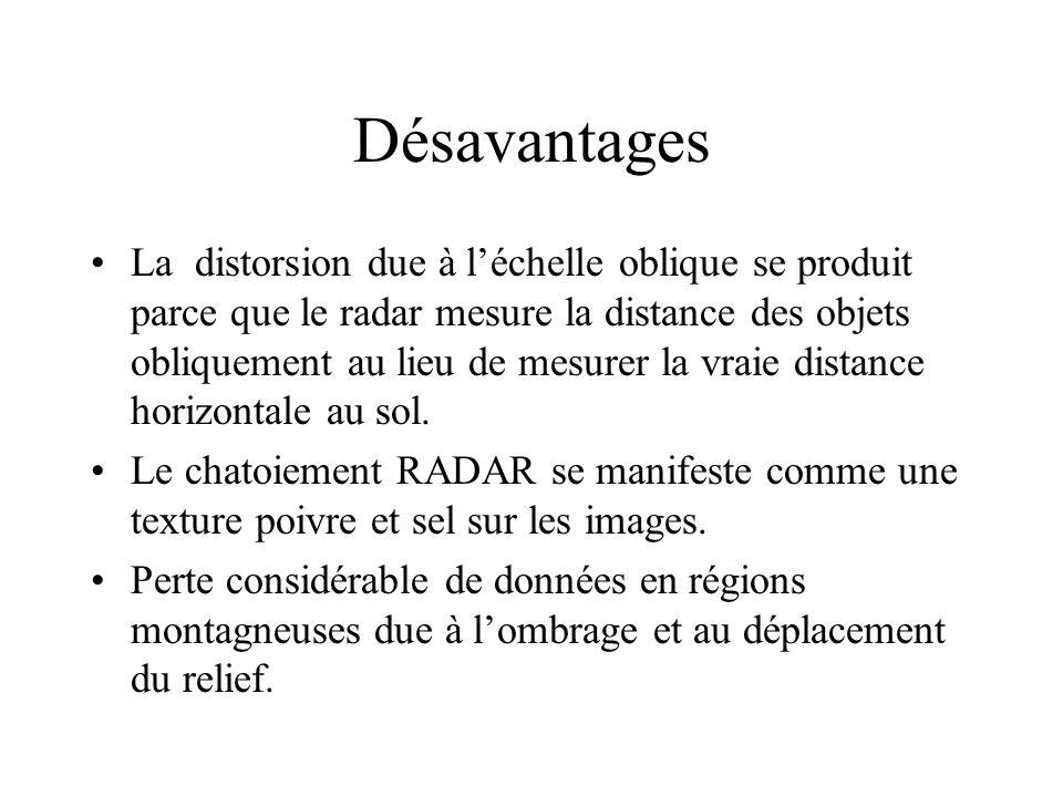 Désavantages