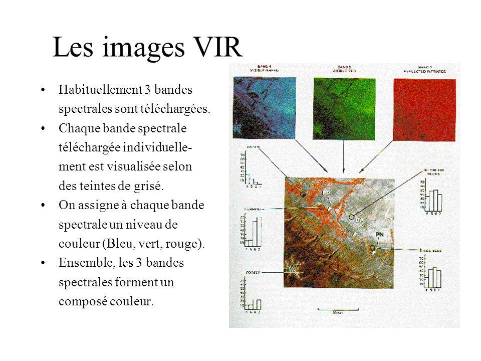 Les images VIR Habituellement 3 bandes spectrales sont téléchargées.