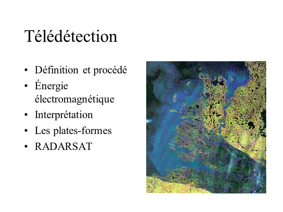 Télédétection Définition et procédé Énergie électromagnétique