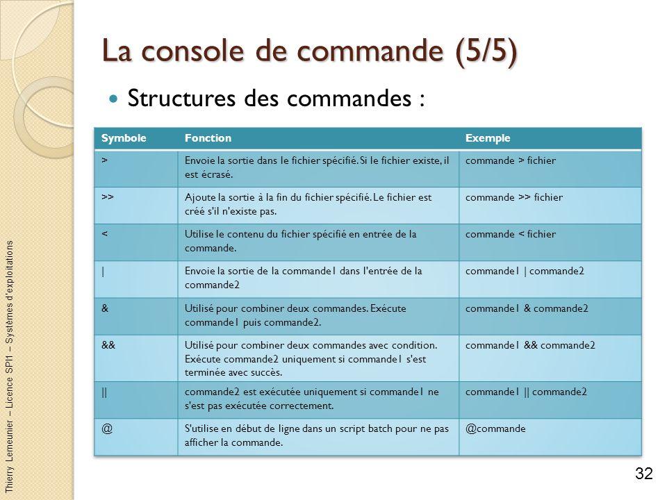 La console de commande (5/5)
