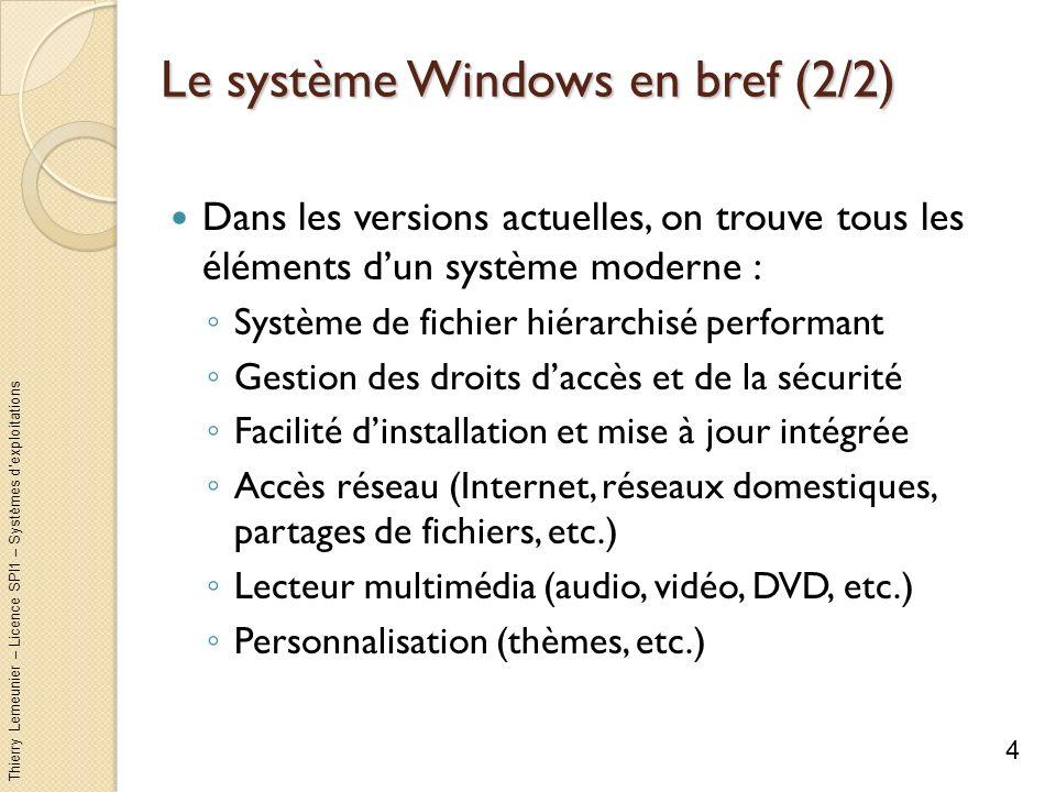 Le système Windows en bref (2/2)