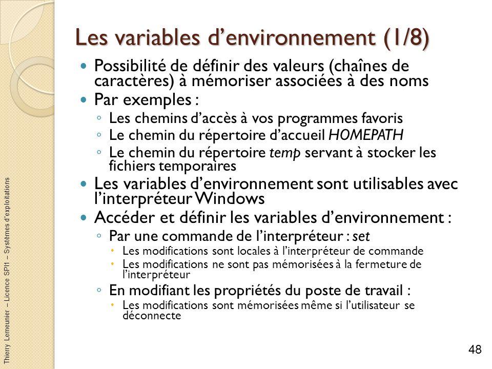 Les variables d'environnement (1/8)