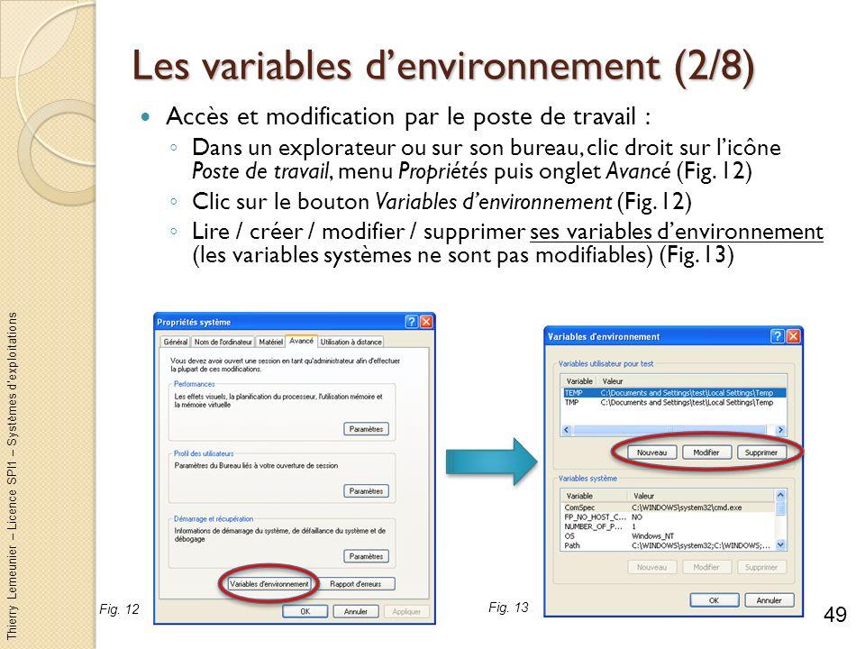 Les variables d'environnement (2/8)