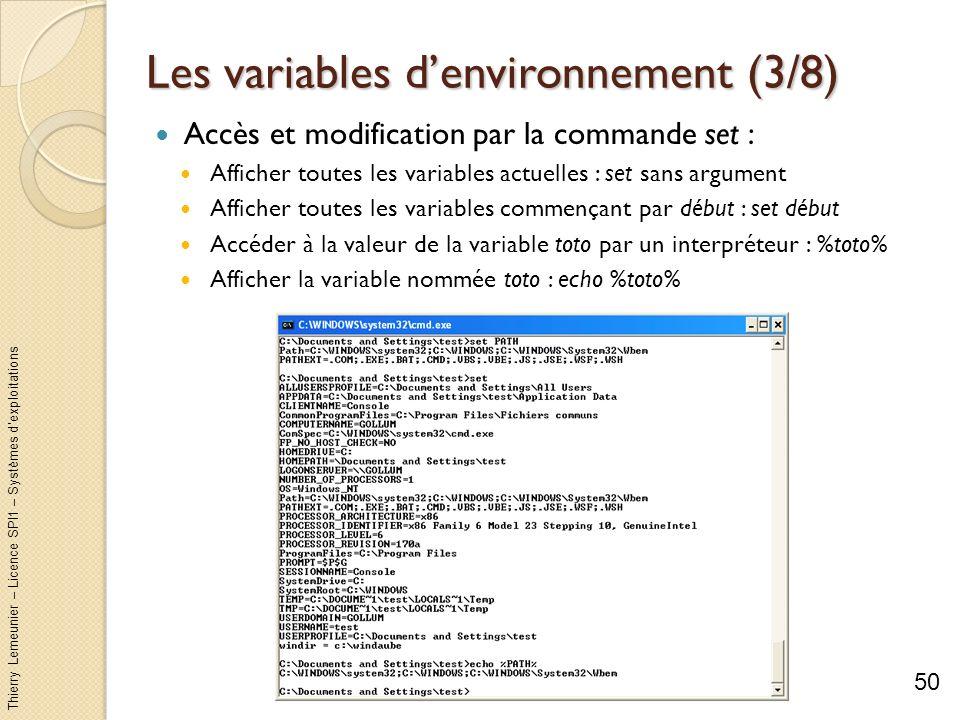 Les variables d'environnement (3/8)