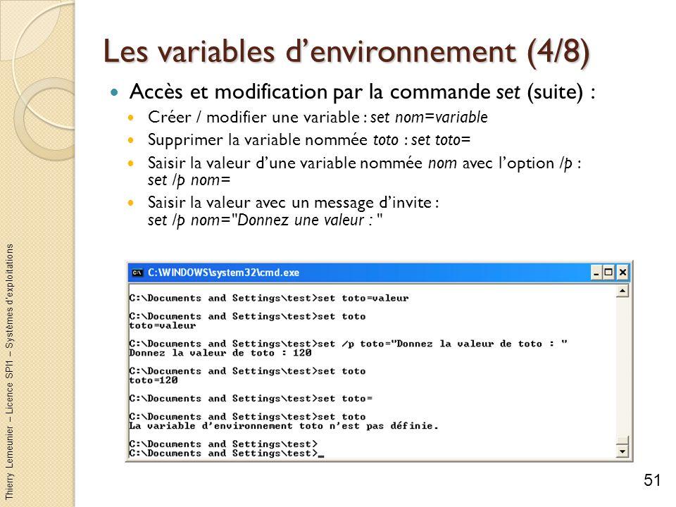 Les variables d'environnement (4/8)