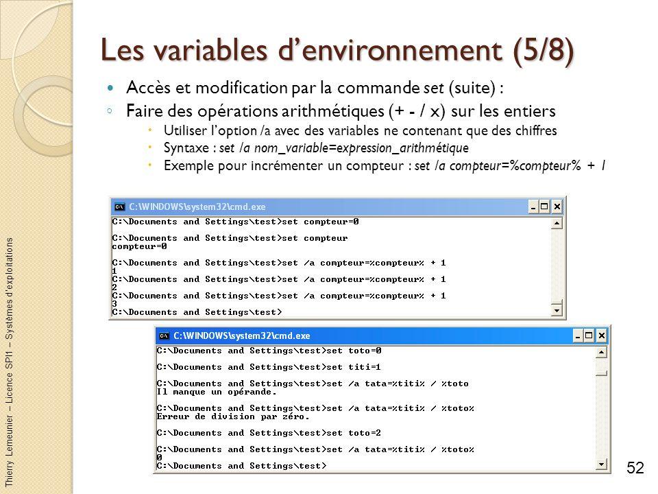 Les variables d'environnement (5/8)