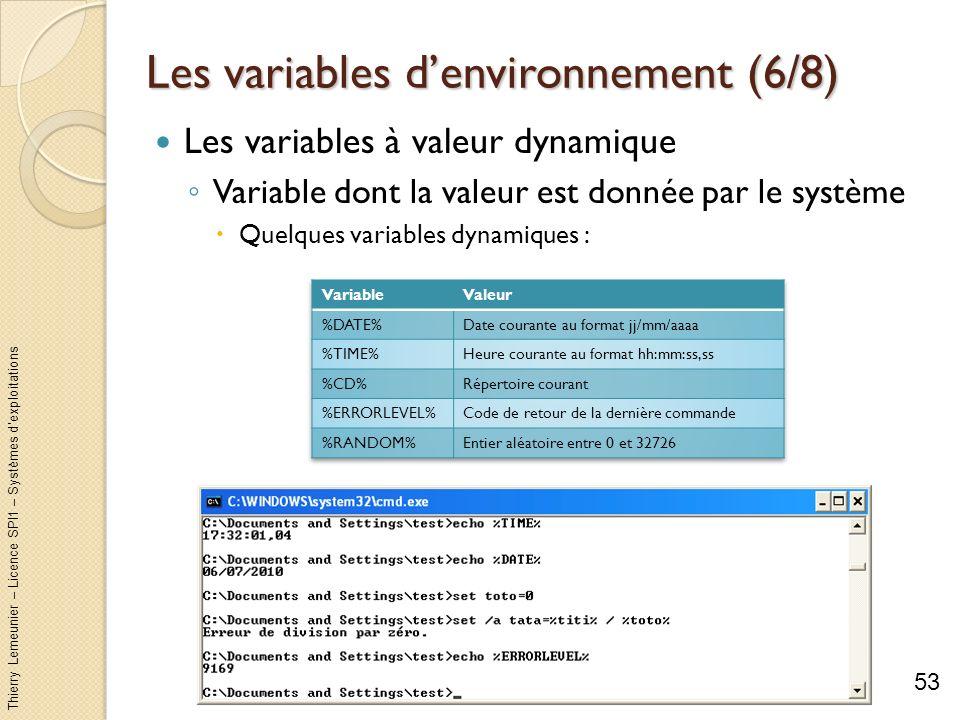 Les variables d'environnement (6/8)