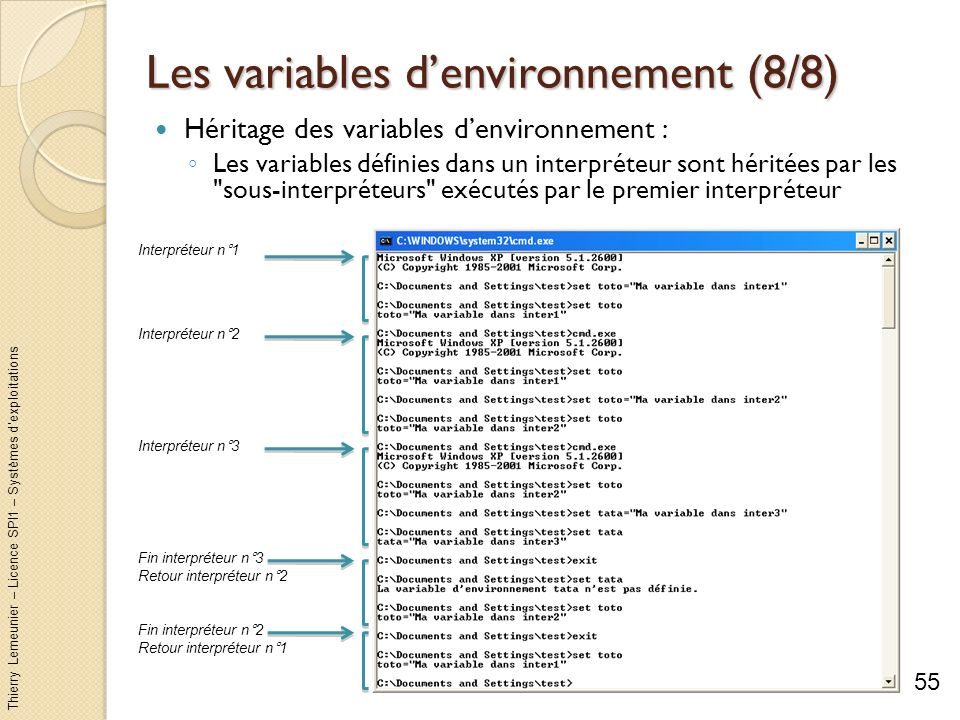 Les variables d'environnement (8/8)