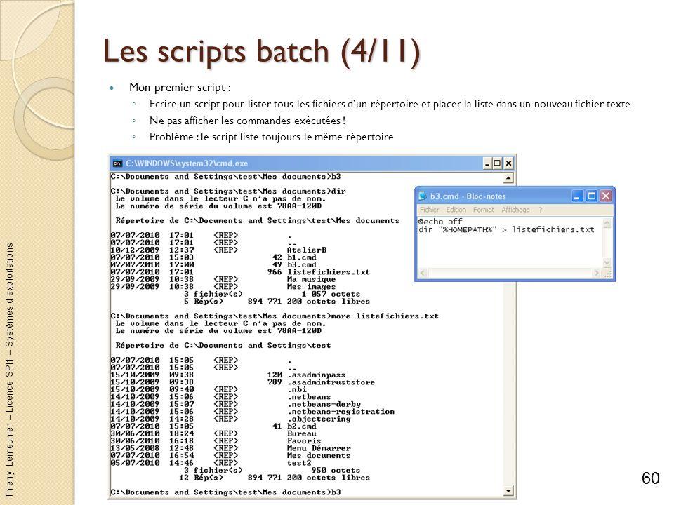 Les scripts batch (4/11) Mon premier script :