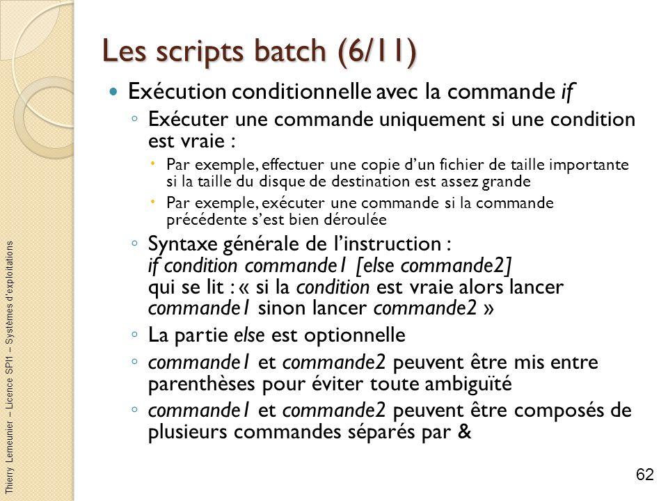 Les scripts batch (6/11) Exécution conditionnelle avec la commande if
