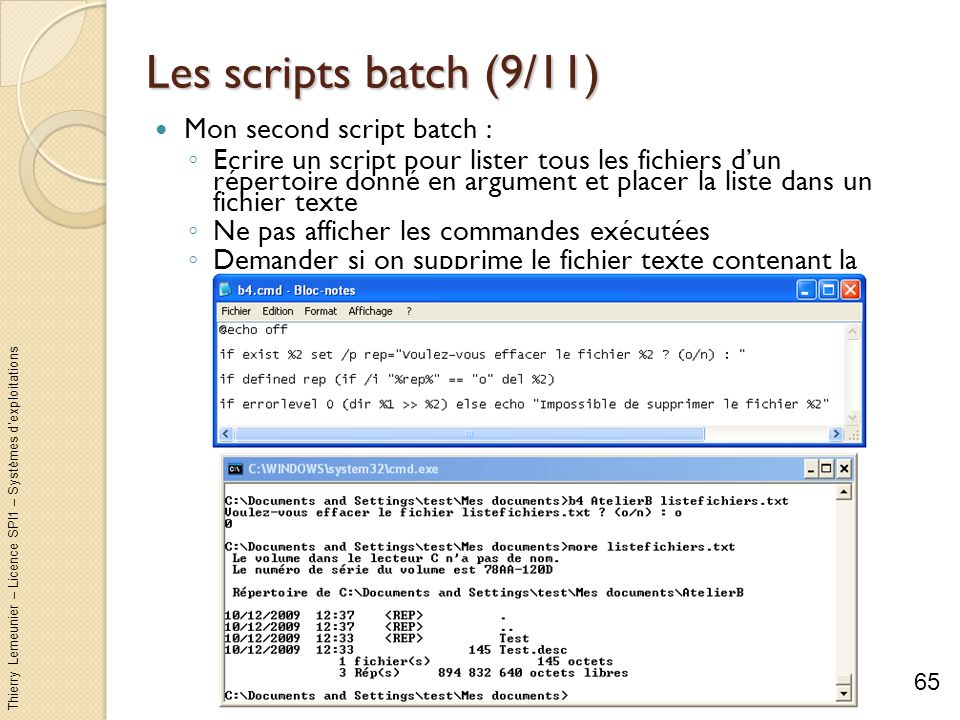 Les scripts batch (9/11) Mon second script batch :