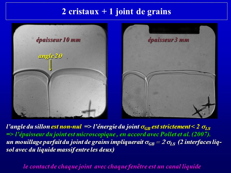 2 cristaux + 1 joint de grains