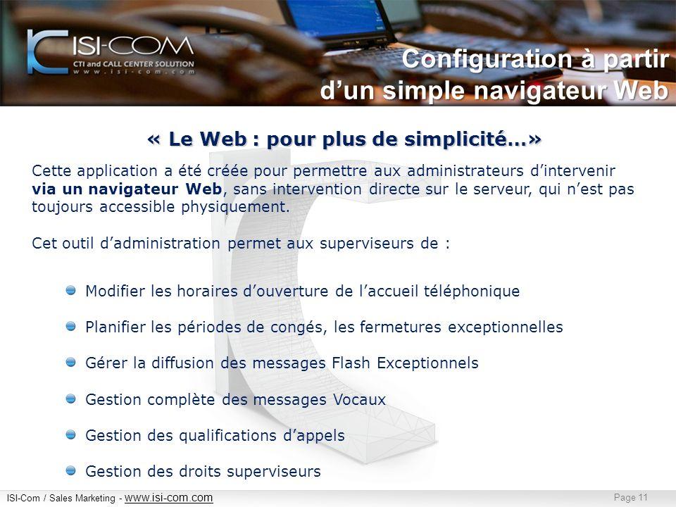 « Le Web : pour plus de simplicité…»