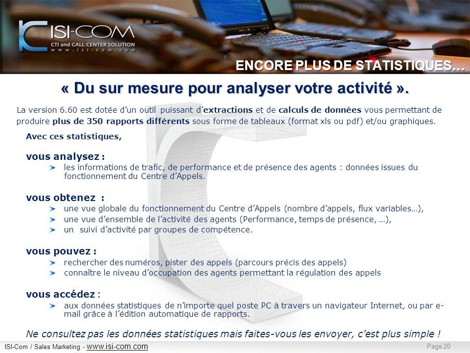 ENCORE PLUS DE STATISTIQUES…