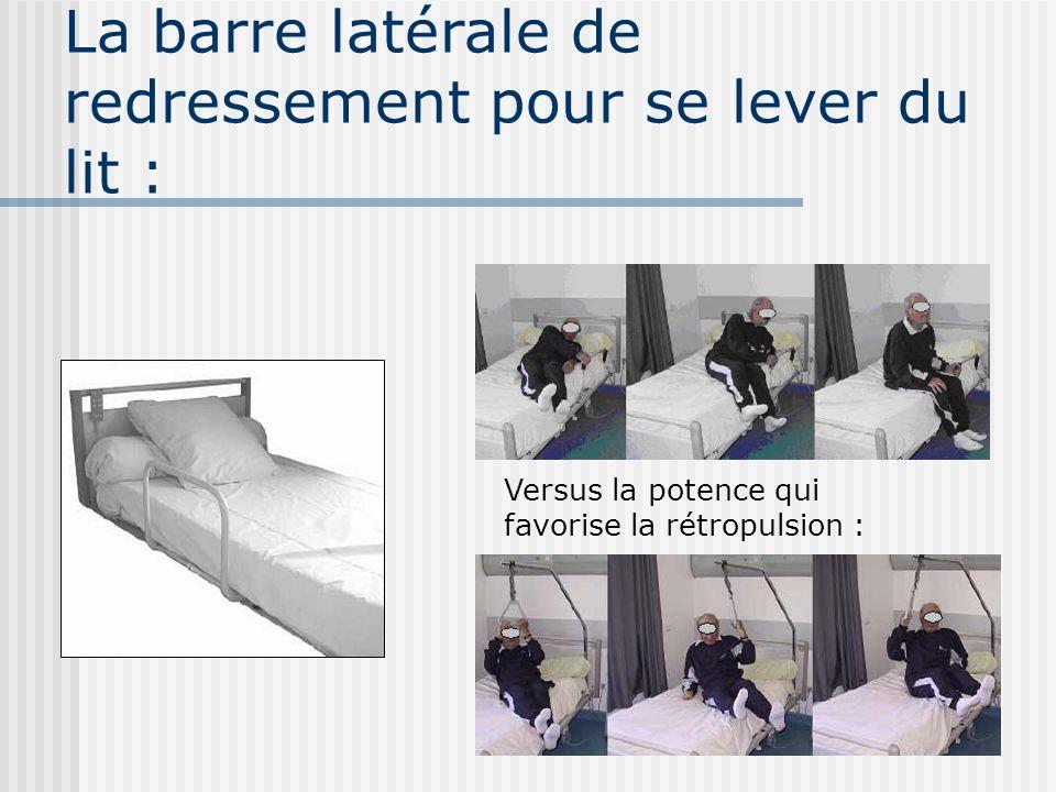 La barre latérale de redressement pour se lever du lit :